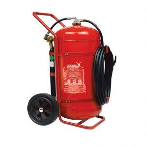 کپسول آتش نشانی جوکل چرخدار پودری بالن بغل