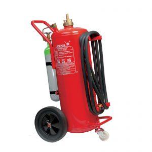 کپسول آتش نشانی جوکل پودری چرخدار تحت فشار ABC-BC